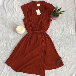 Anthropologie Burnt Orange Dress